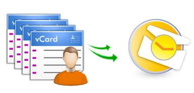 Данные из vCard (VCF файлов) широко используются в программах, работающих с адресными книгами