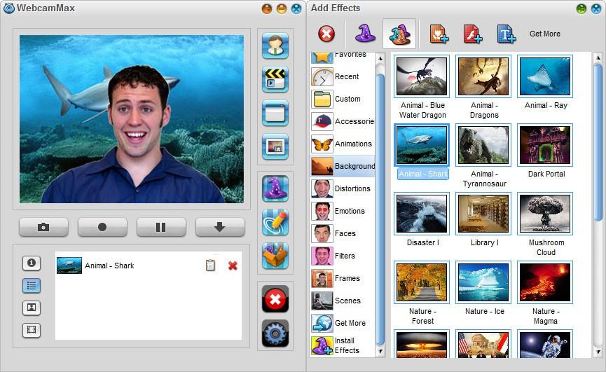 При помощи ряда программ можно накладывать на ваш видеопоток различные эффекты - от смены цвета и фона до изменения изображения вашего лица