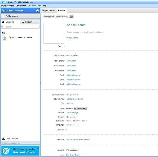 """Начать процесс удаления своего аккаунта из скайпа стоит с заполнения профиля """"мусором"""" - некорректной информацией"""