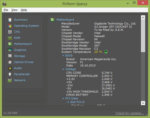 Помимо реестра, информацию о ревизии и прочих данных BIOS можно узнать, воспользовавшись специализированными утилитами - Everest или Piriform Speccy