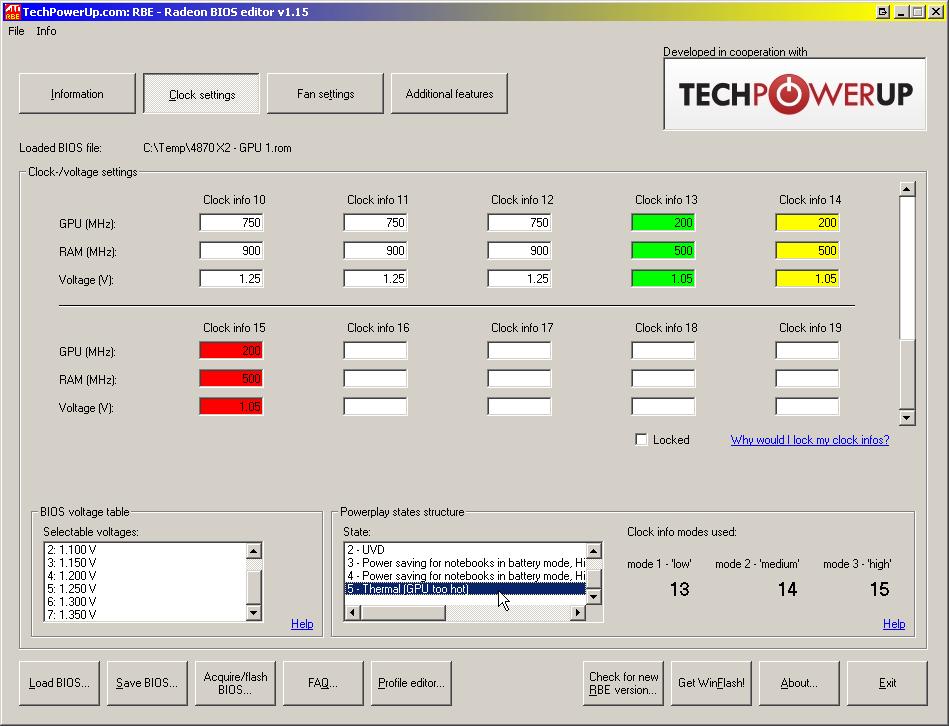 Утилита TechPowerUp дополнительно позволит управлять настройками активного охлаждения и разгоном видеокарты