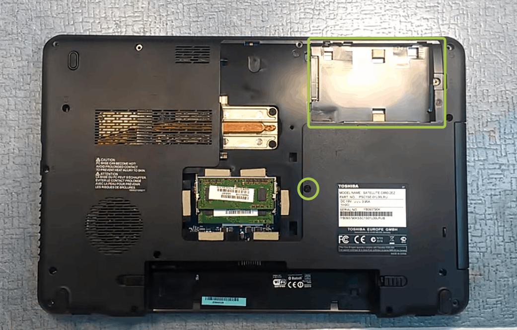 Как разобрать ноутбук Тошиба Satellite C660 15к