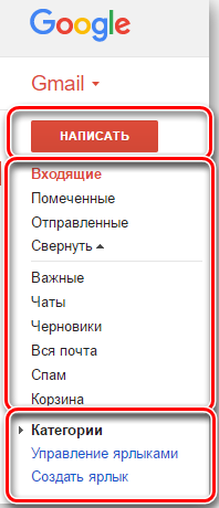 Основная классификация сообщений в Gmail