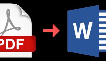 Конвертация формата из PDF в Word