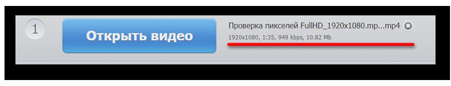 Информация о файле после загрузки его в сервис Audio Extractor