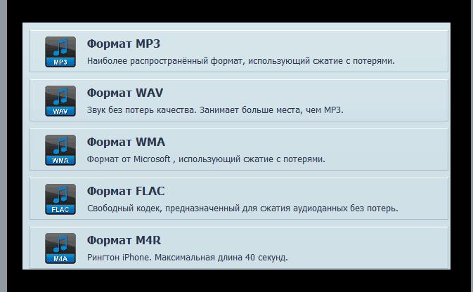Форматы файлов, извлекаемые из видео в АудиоМАСТЕРе