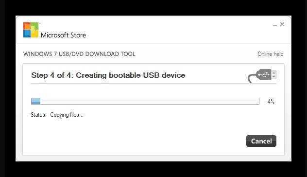 Процесс создания мультизагрузочной флешки в Windows USBDVD Download Tool