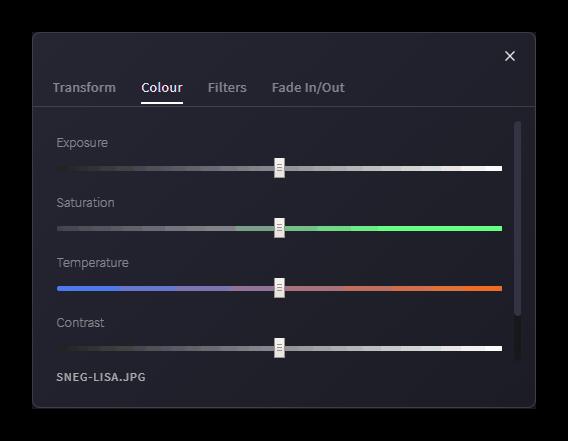 Цветокоррекция изображения в Clipchamp