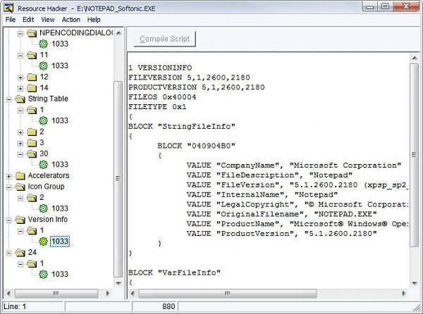 При помощи Resource Hacker можно открыть и вытянуть информацию и ресурсы из EXE файла - иконки, версии, и другие