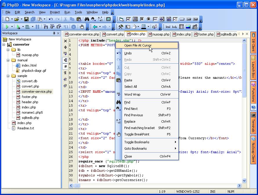 PhpEdit - профессиональная программа, при помощи которой можно не только открыть, но и создавать целые проекты на языке PHP.