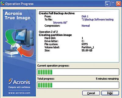 Открываются файлы TIB при помощи Acronis True Image любой подходящей версии