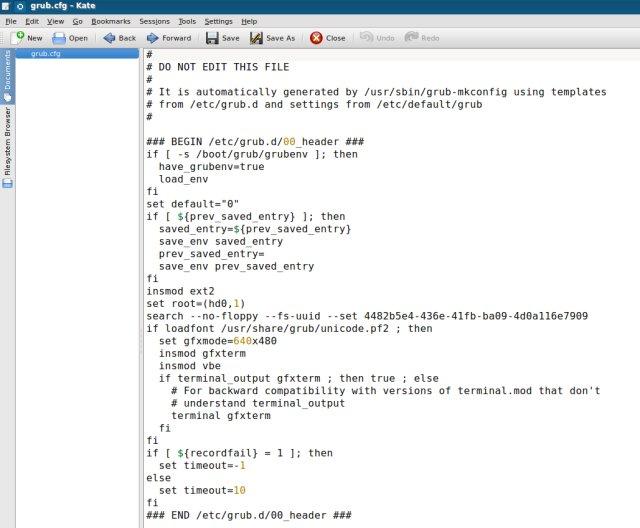 Файлы конфигураций в формате CFG могут встречаться и в Linux. В этом случае их также можно открыть при помощи текстовых редакторов