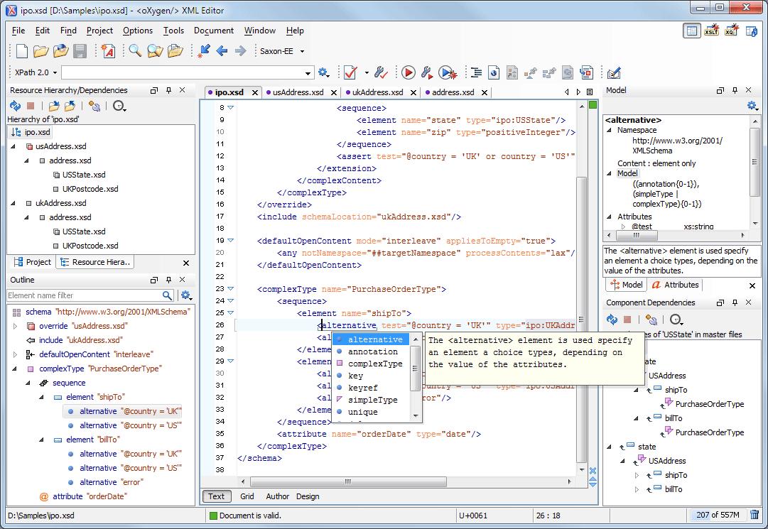 Файл XSD, содержание которого соответствует XML схеме, можно открыть при помощи одного из редакторов XML - к примеру, XML Editor