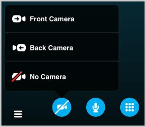Если у собеседника не отображается видео, проверьте опцию запрета трансляции видеопотока