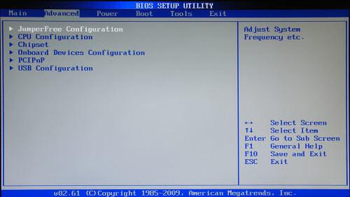 Раздел Advanced зачастую содержит детальные настройки процессора, чипсета, устройств, опции по разгону и т.д.
