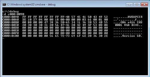 Консольное приложение debug.exe позволит сбросить настройки БИОС прямо при работе в 32-разрядной ОС Windows