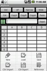 MyExcel - аналог Excel, который можно использовать на Android-платформах
