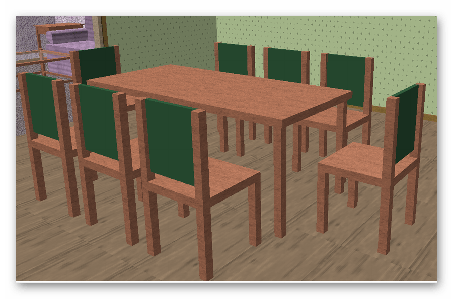 Кухонный стол floorplan 3d