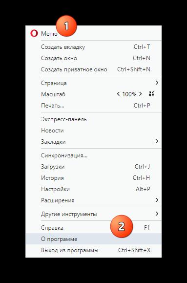 Обновление плагина в браузере Опера