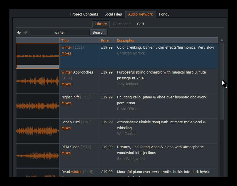 Сервис AudioNetwork
