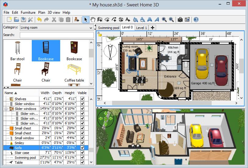 Скриншот для Sweet Home 3D
