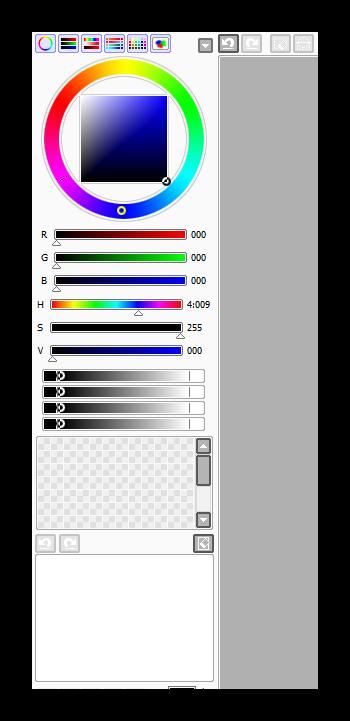 Цветовая палитра в Paint Tool SAI