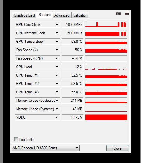 Мониторинг видеокарты в GPU-Z