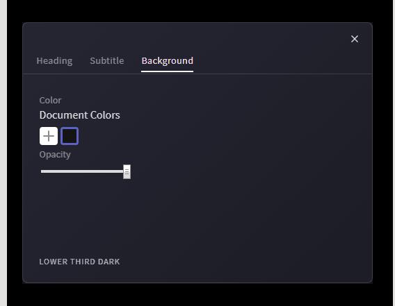 Настройка бэкграунда для текста в Clipchamp